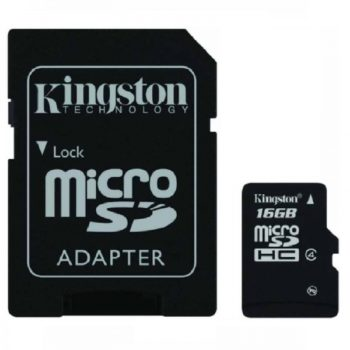 KINGSTON Micro SD 16GB Class 4 + adapter
