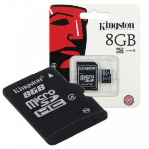 KINGSTON Micro SD 8GB Class 4 + adapter