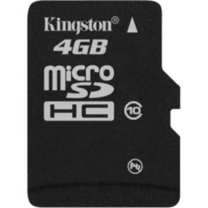 KINGSTON Micro SD 4GB Class 10