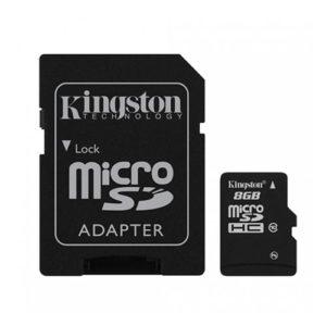 KINGSTON Micro SD 8GB Class 10 + adapter