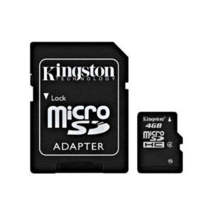 KINGSTON Micro SD 4GB Class 4 + adapter