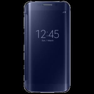 SAMSUNG Galaxy S6 Edge Clear view Cover (Black)