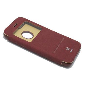iPhone 7 Baseus Simple Leather futrola na preklop (Bordeaux)
