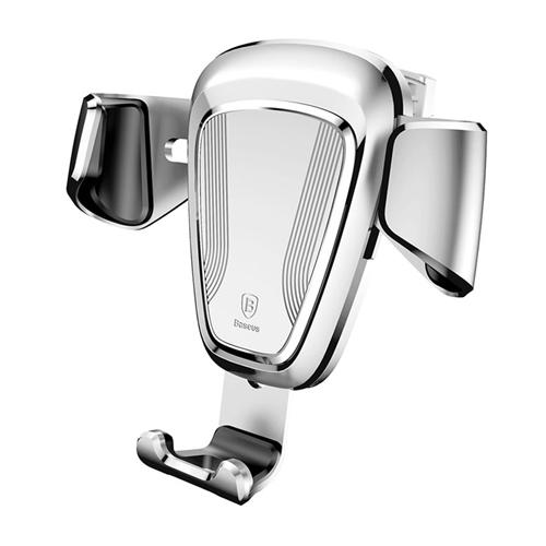 Baseus Gravity drža? za mobilni telefon (Silver) Montira se na rešetki ventilacije Rotacija 360 stepeni. Pogodna širina telefona od 63mm do 88mm, pogodna debljina telefona od 10mm. (4.0 do 6.0 incha. ) Automatsko stezanje telefona. Link proizvo?a?a