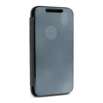 iPhone XR Clear view futrola na preklop (Black)